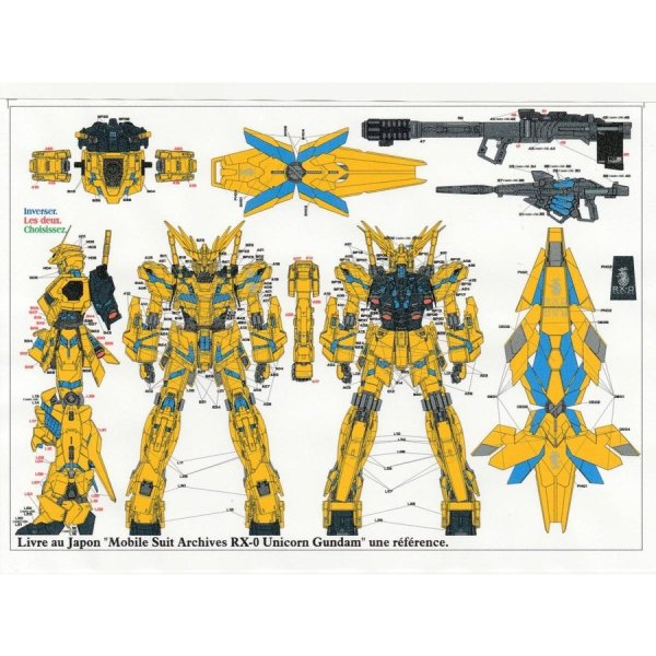 Photo1: 1/100 Unicorn Gundam Phenex Decal (1)
