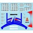 Photo3: 1/12 Honda NSR500 '89 Harvey Tobacco&Helmet Decal (3)