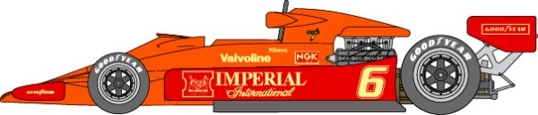 Photo1: 1/12 Lotus 78 Imperial color Decal (1)
