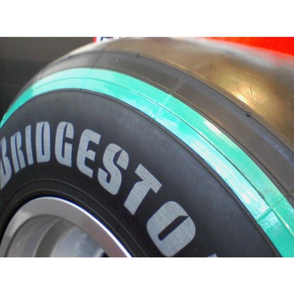 Photo1: 1/18 '09 Soft Tire Green Ring Decal (1)