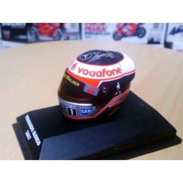 Photo1: 1/8 Helmet '07 Alonso Decal (1)