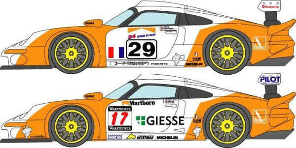 Photo1: 1/24 Porsche 911GT1 LM&'98 Suzuka Decal (1)