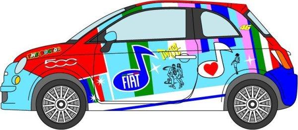 Photo1: 1/24 Fiat500 '07 Rossi color Bologna decal (1)