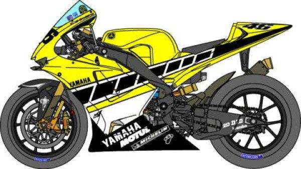 Photo1: 1/12 Yamaha YZR-M1'05 Rossi 50th set Decal (1)