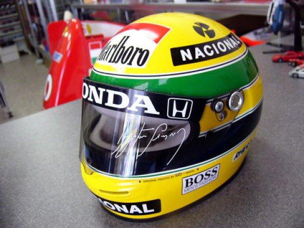Photo1: 1/2 Helmet A. Senna '90, 91 Marlboro Decal (1)
