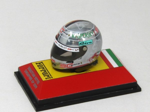Photo1: 1/8 Helmet '19 Vettel Singapore GP Decal (1)