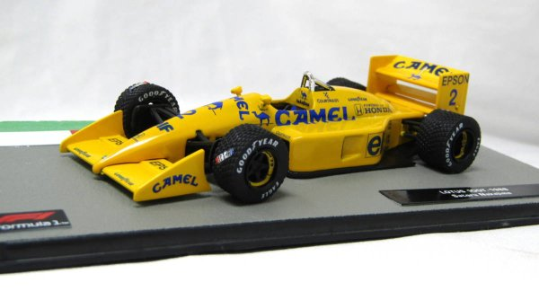 Photo1:  1/43 bi-weekly F1 machine collection (Lotus 100T Nakajima car, Tyrrell 018, Ligier JS43, Benetton B196) Decal (1)