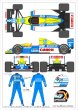 Photo1: 1/20 Williams FW13 & Racing Suit Decal (1)