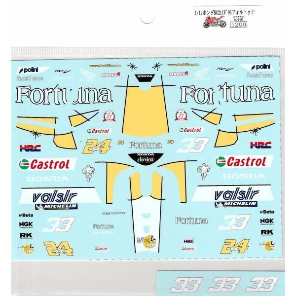 Museum Collection 1//12 Honda RC211V /'05 Telefonica Decal for TAMIYA D396