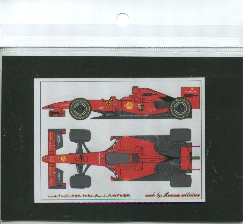 Wehrlein Decal D960 Japan Museum Collection 1//20 Ferrari F60 /'19 Nurburgring P